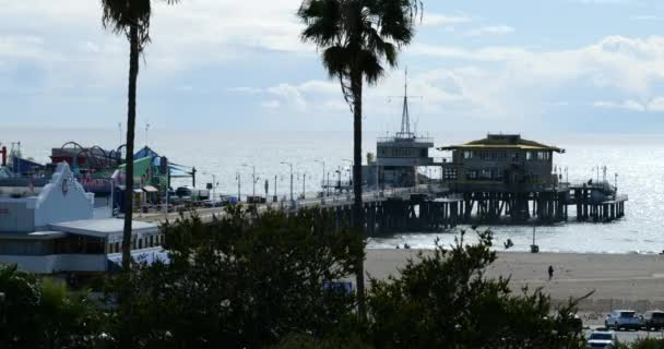 Santa Monica, CA/USA - March 26, 2020: The Santa Monica Pier is closed and deserted prior to the Governors stay at home coronavirus mandate