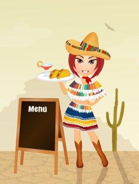 Illustration of Mexican menu