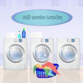 Fotografia servizio di lavanderia automatica