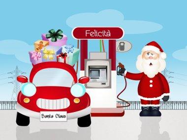 machine of Santa Claus fuel happiness