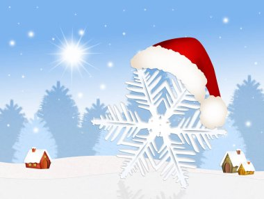 Snowflake at Christmas