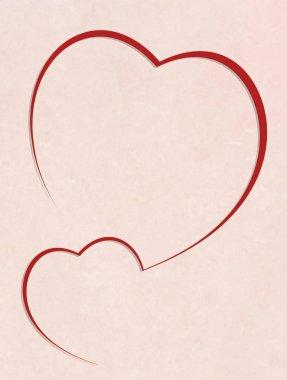 illustration of heart frame