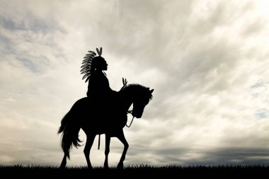 Native Indian on horse