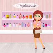 Fotografie girl in the perfumery