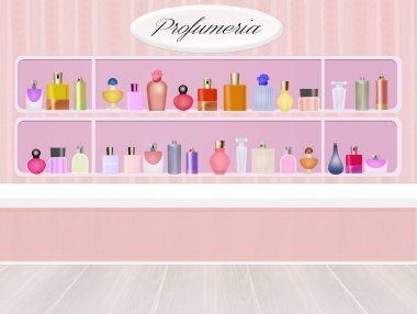 illustration of perfumery