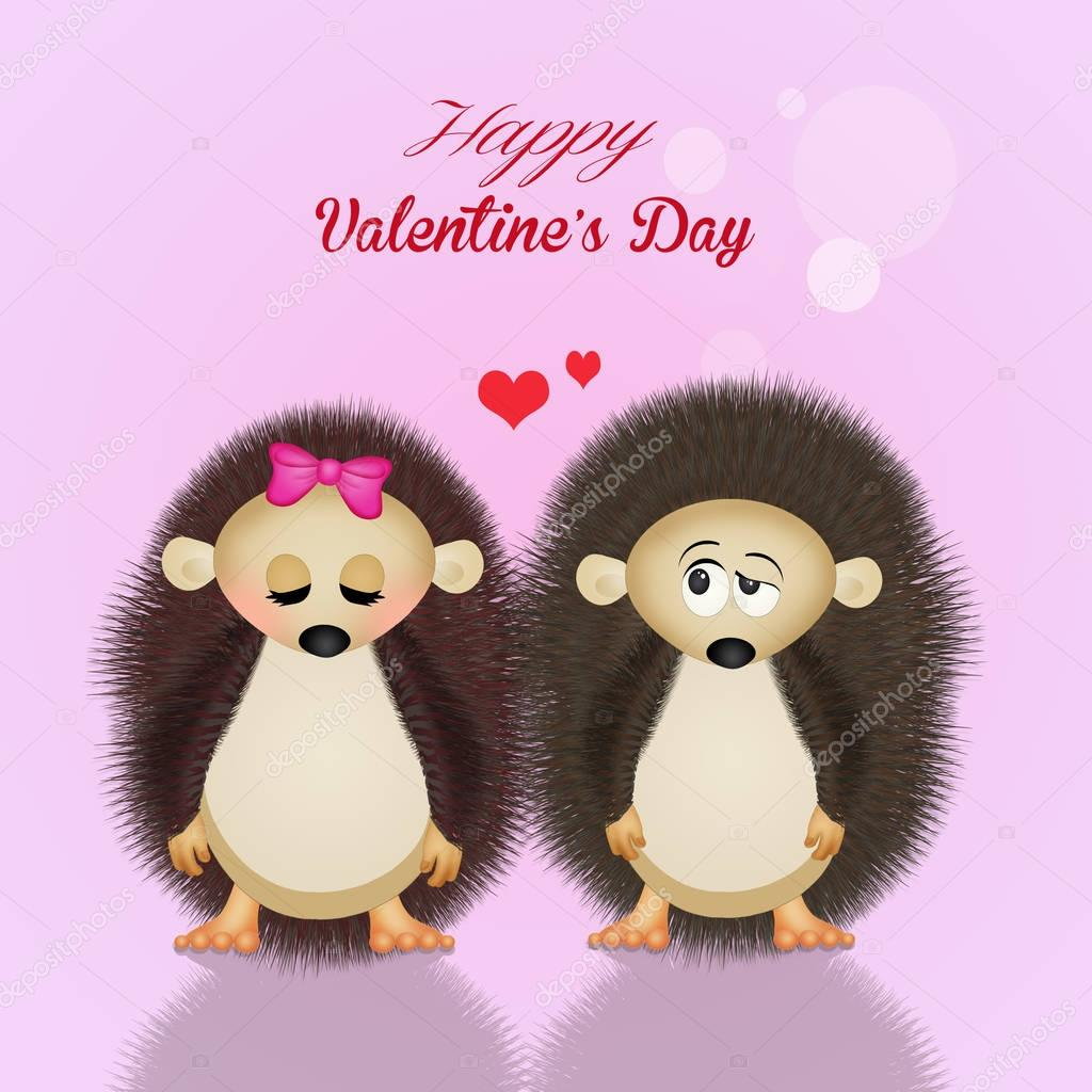 hedgehogs for Valentines day