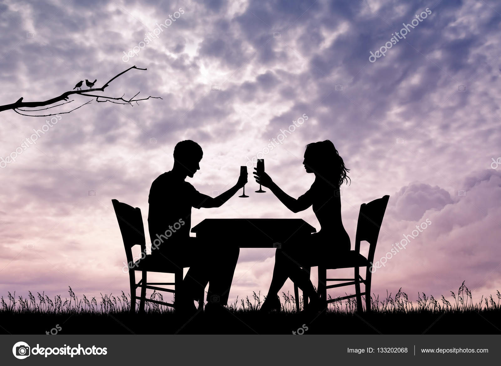 Romantic dinner for two — Stock Photo © adrenalina #133202068