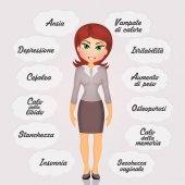 žena s příznaky menopauzy
