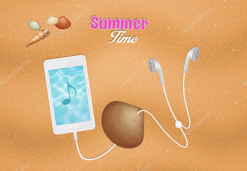 illustration of summer time