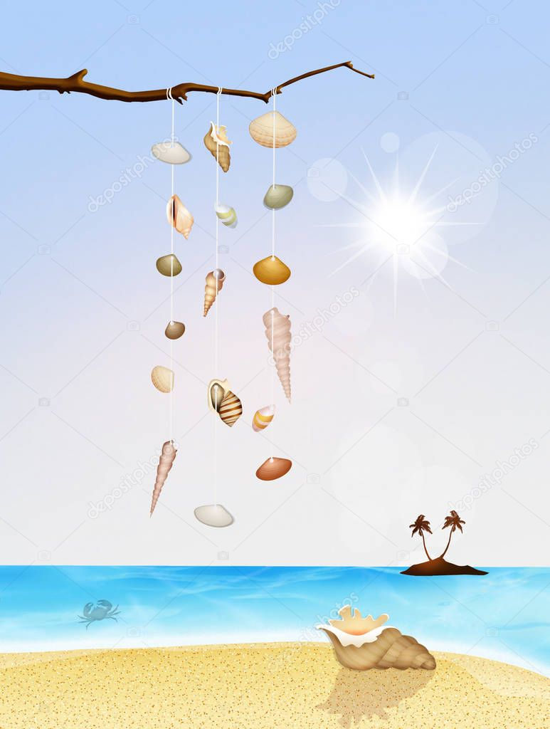 illustration of rattles shells