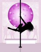 Fotografia Ballerina di lap dance in discoteca