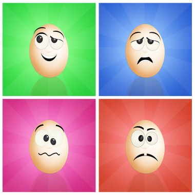 funny eggs faces