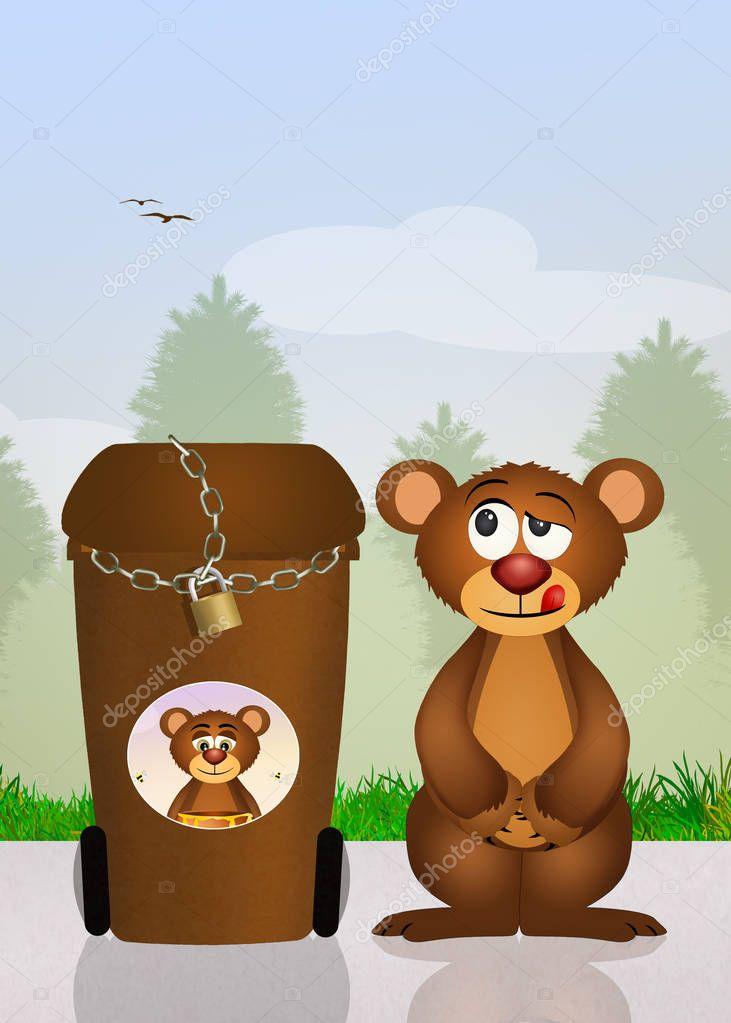 bin garbage anti bear