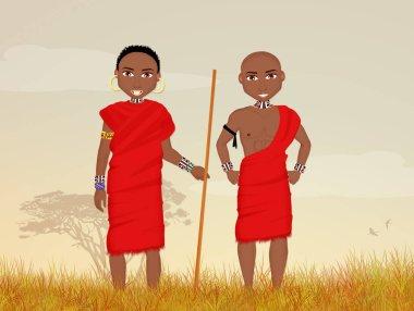 Traditional Masai men