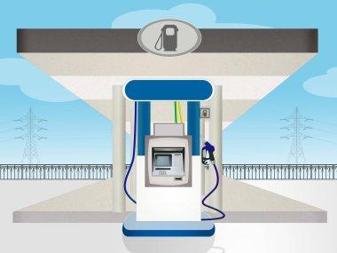 illustration of Gasoline station
