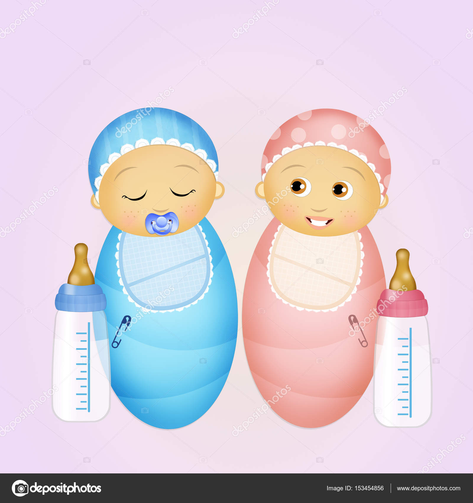 Babies With Baby Bottle Stock Photo C Adrenalina 153454856 - Baby-collection-by-adrenalina