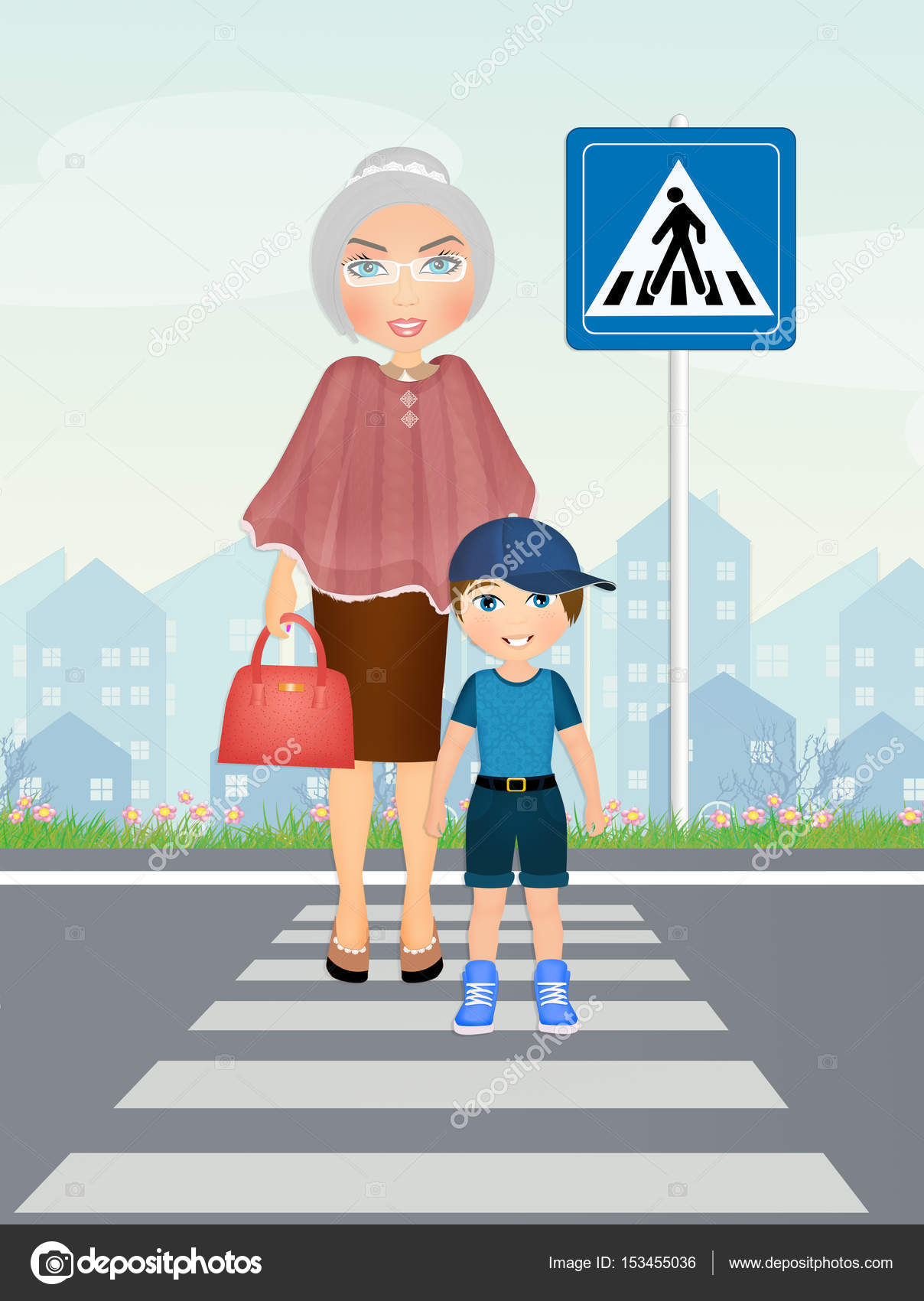 Картинка переведи бабушку через дорогу