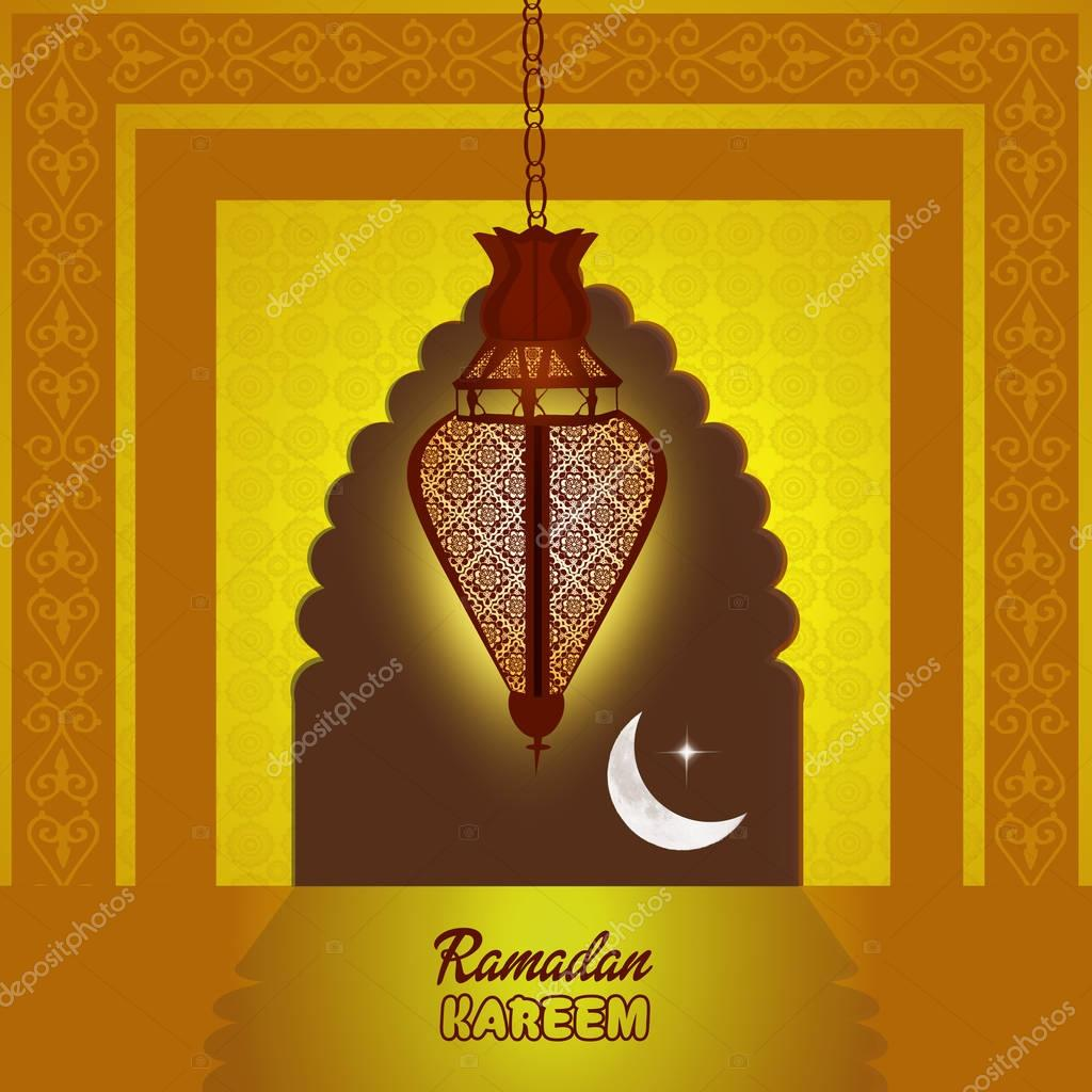 Открытка рамадан фонарик, подписать