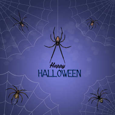 Halloween with spiders