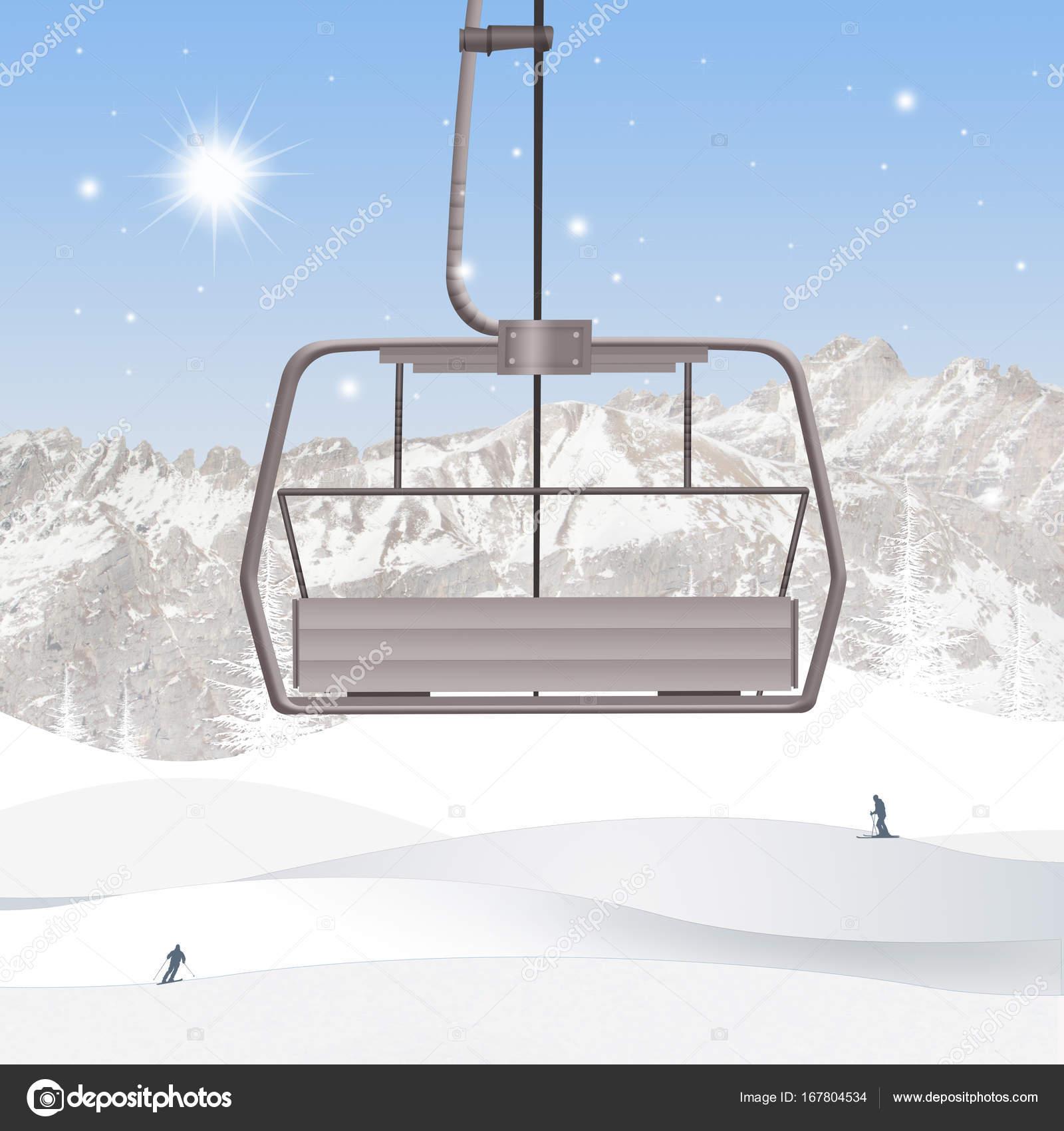 スキー場のリフトのイラスト ストック写真 Adrenalina 167804534