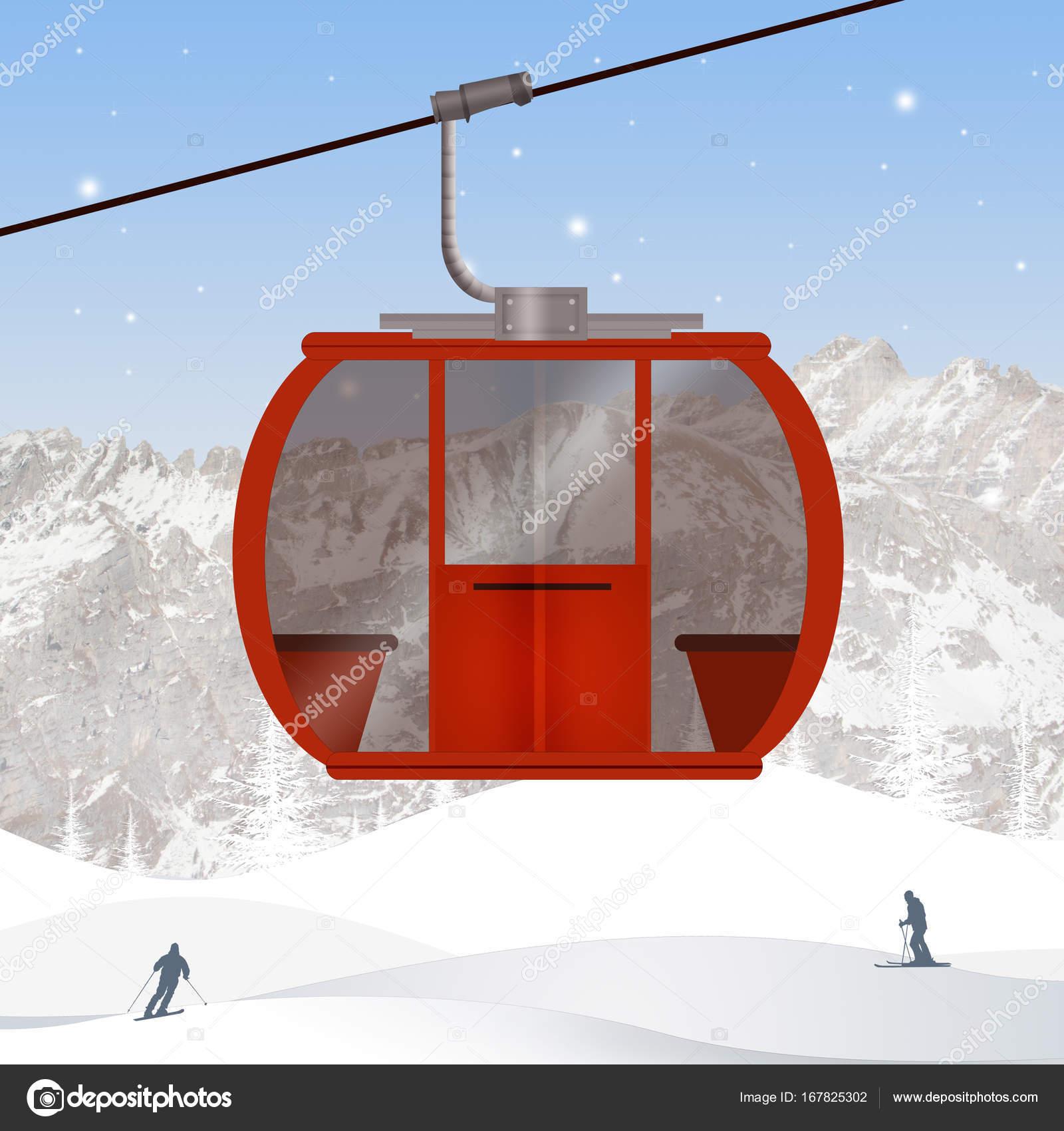 スキー場のリフトのイラスト ストック写真 Adrenalina 167825302