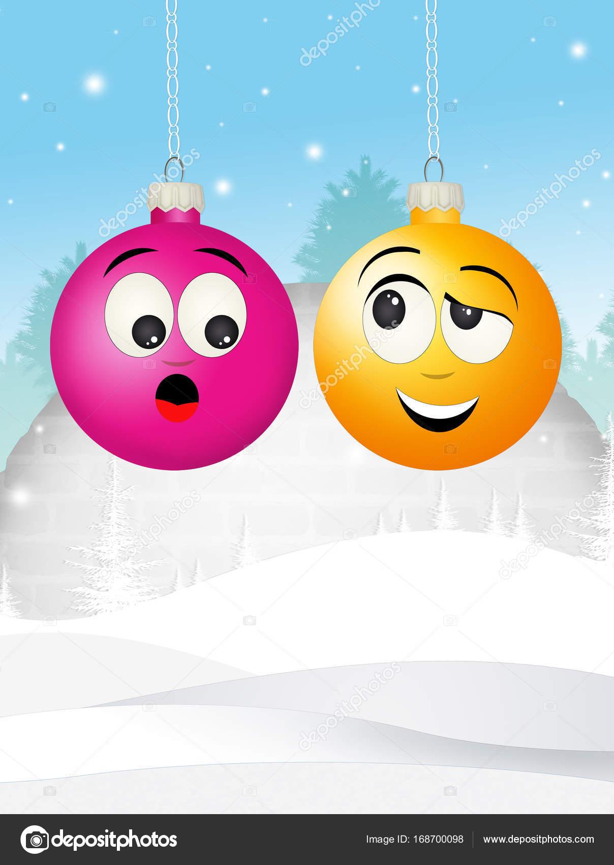 Lustige Weihnachtskugeln.Lustige Weihnachtskugel Stockfoto Adrenalina 168700098