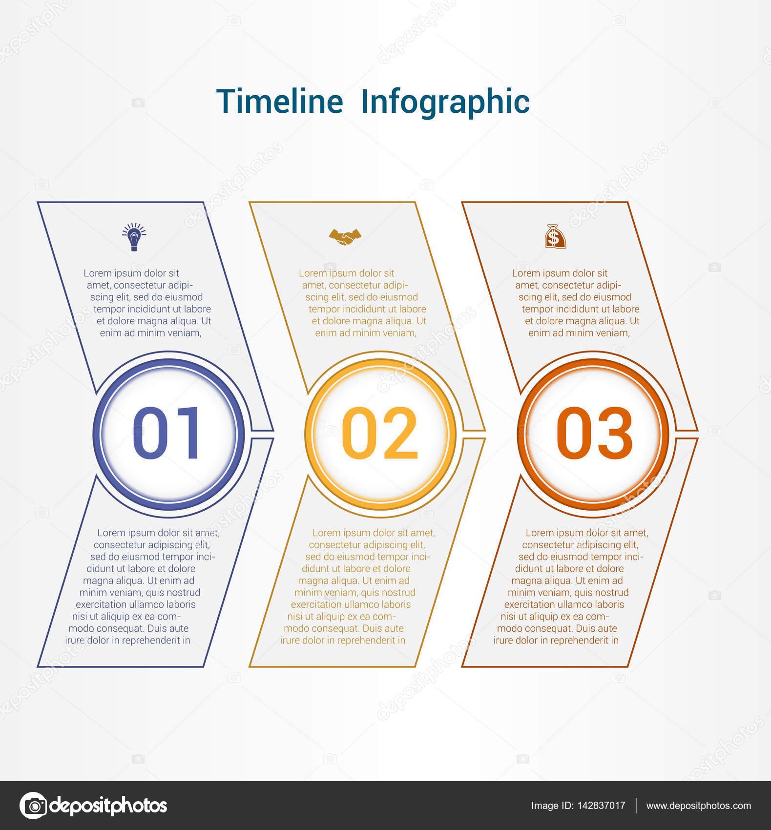 Chronik oder Bereich Diagramm Vorlage Infografiken 3 Stellung ...