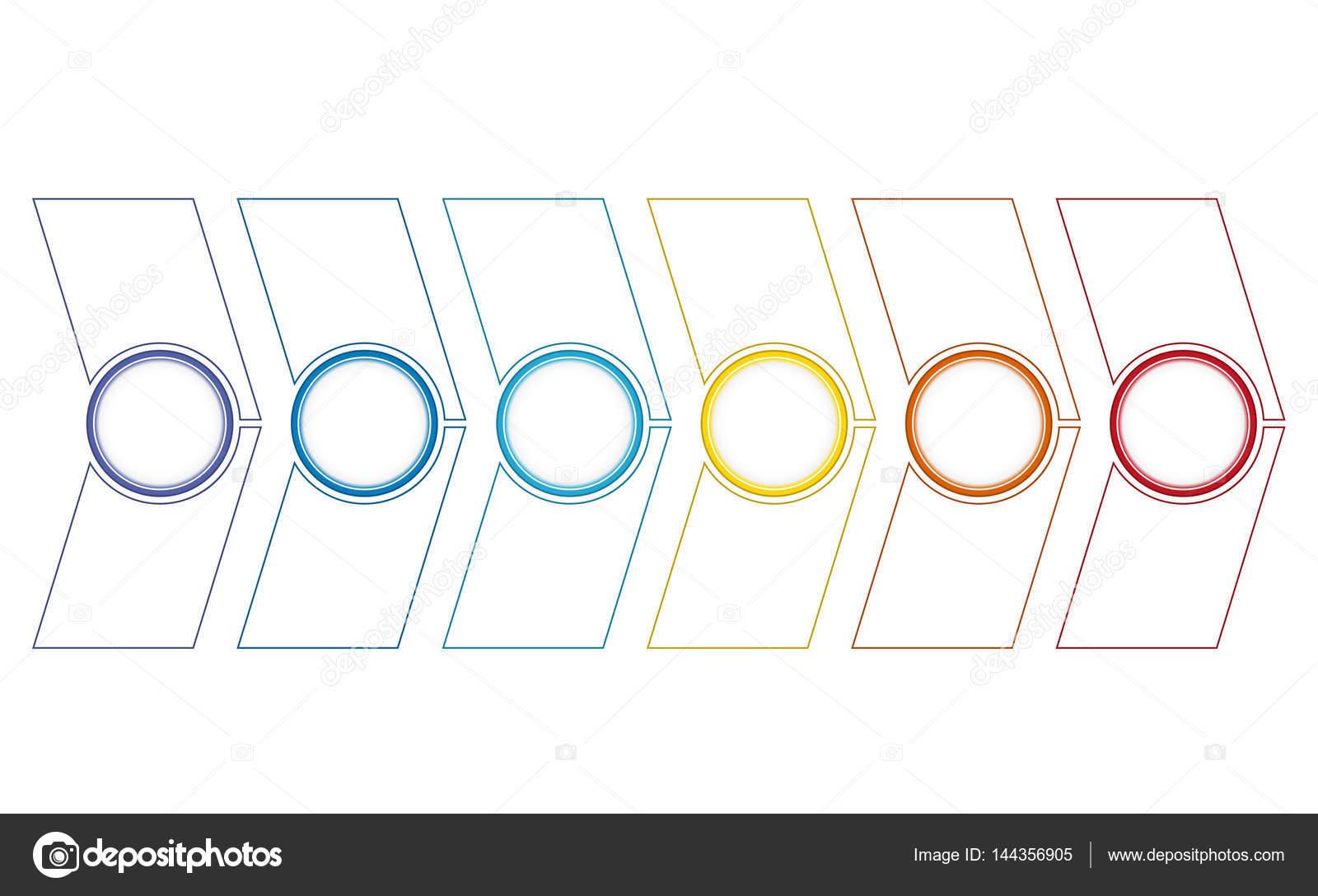 Opciones de flechas 6 línea de tiempo — Fotos de Stock © assistant ...