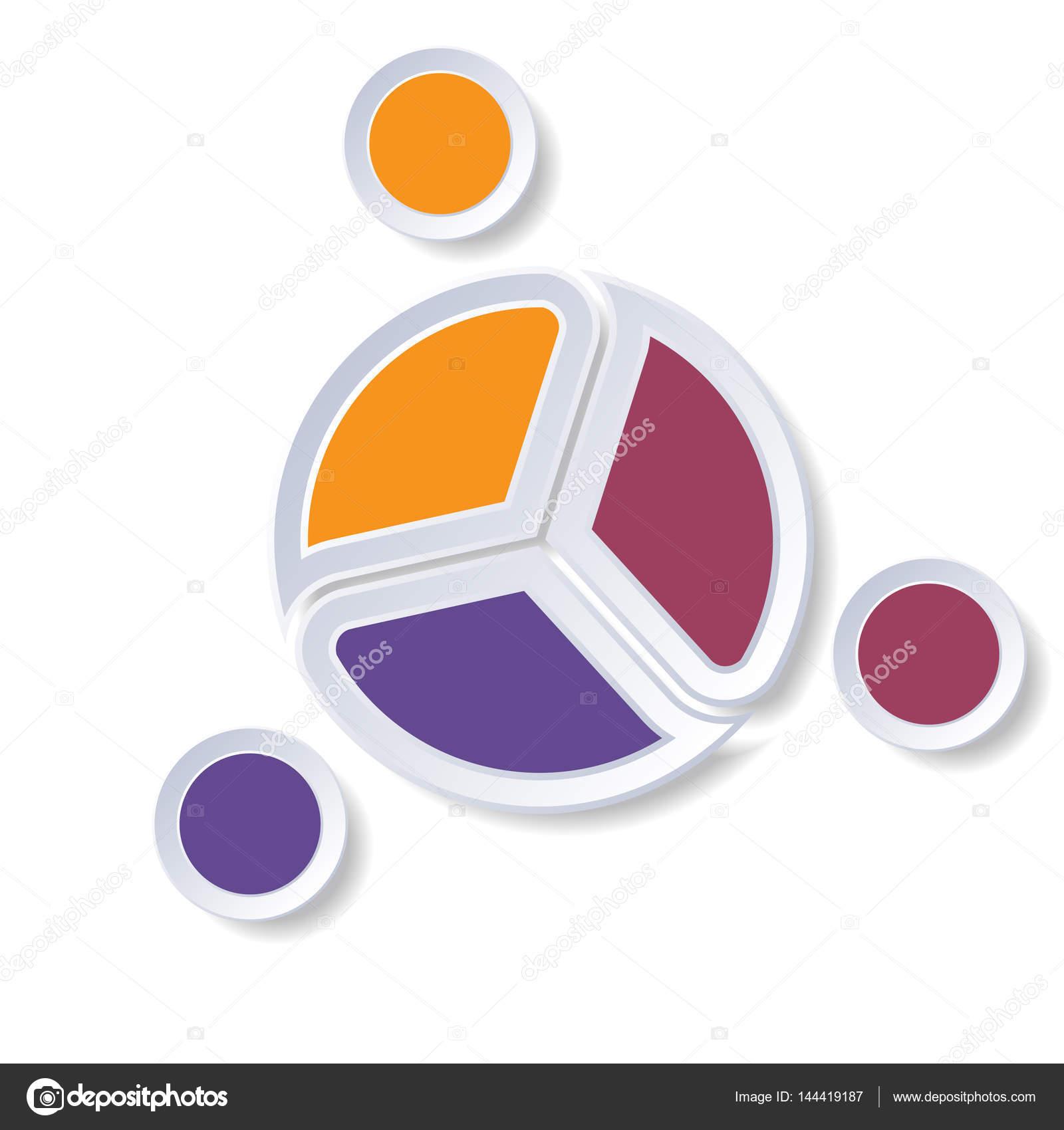 Infografía de plantilla gráfico de sectores o área del gráfico 3 ...