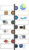 Cestovní ruch a cestování koncept infografika šablony 9 pozic