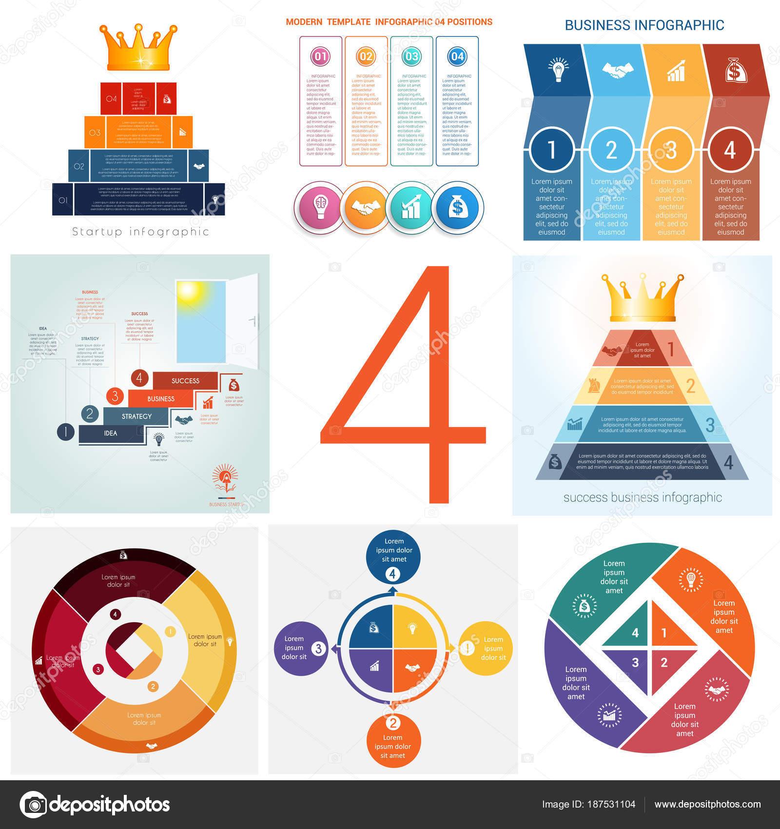 Setzen Sie universelle Vorlagen Elemente Infografiken konzeptionelle ...
