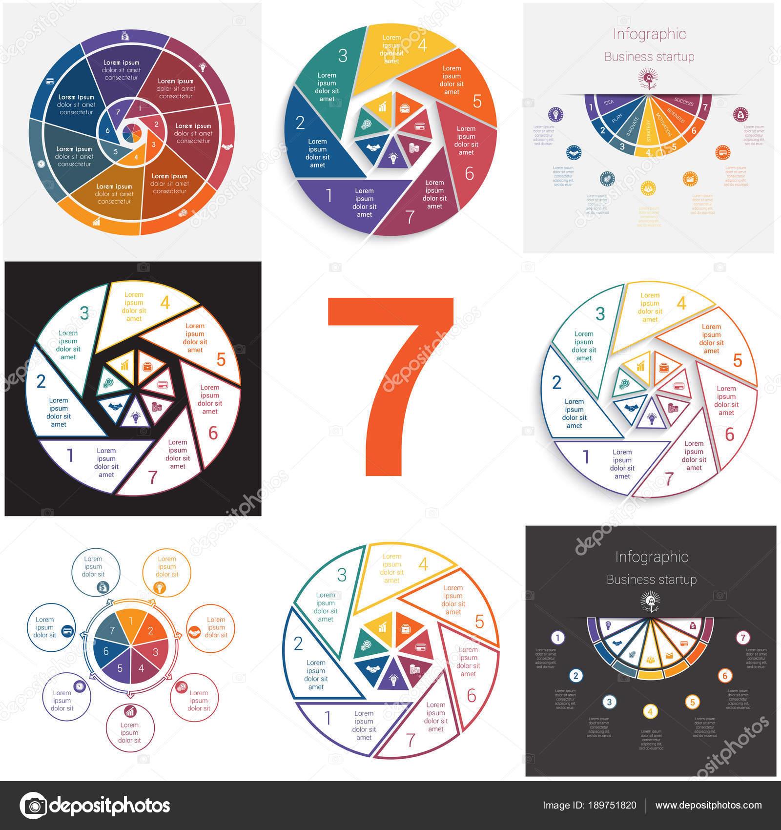 Elementos universales concepto cíclico de la infografía de ...