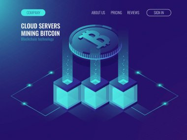 Crypto currency mining comcept with block chain technology