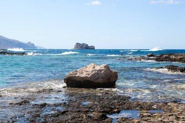 Gramvousa island (Balos) crystal blue sea.