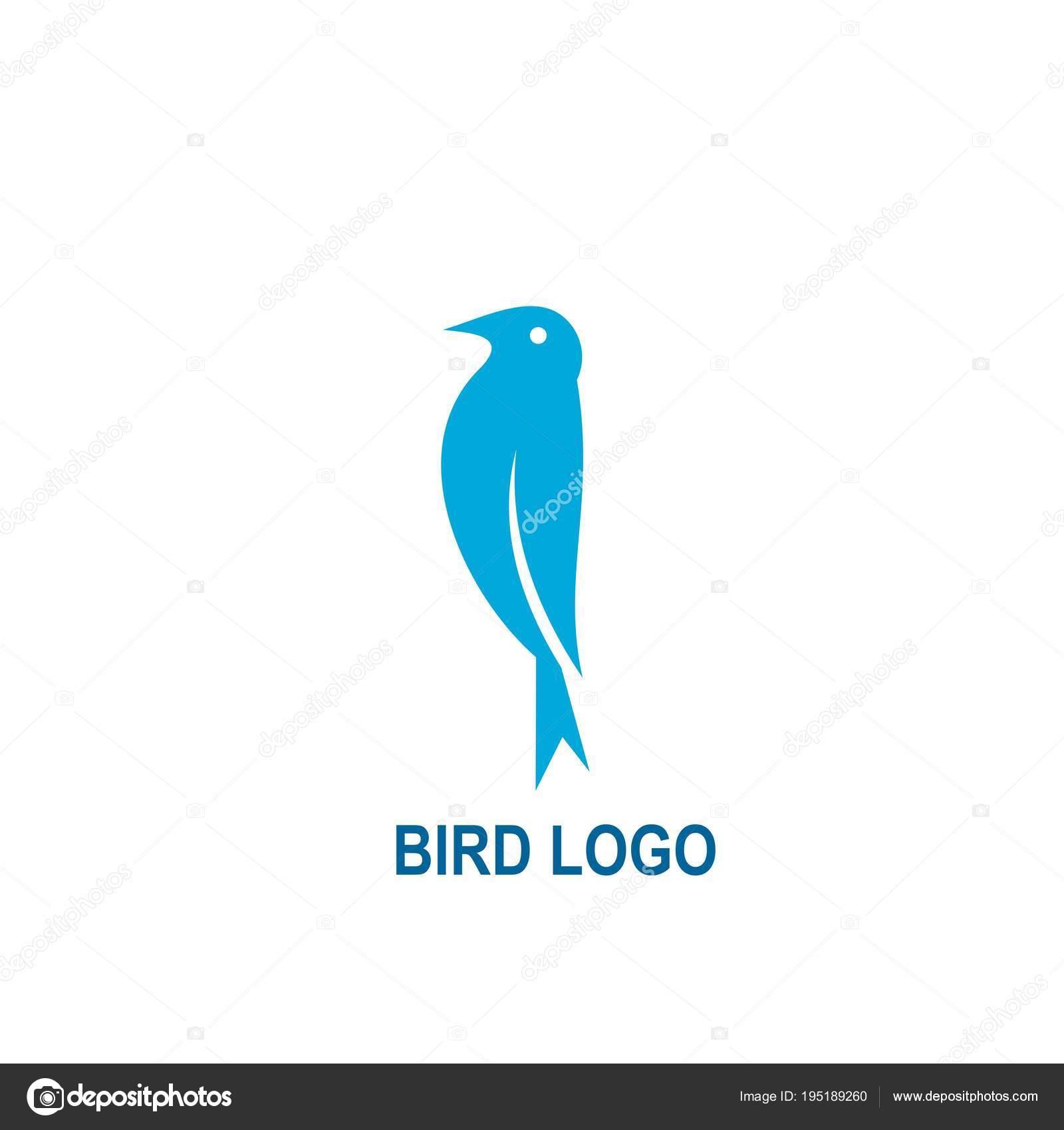 Vogel Logo Design Mit Blauer Farbe Einfache Logo Design Vektor ...