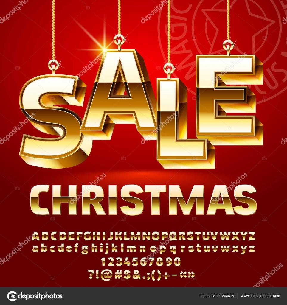 Vektor Gold Glamour Banner für den Weihnachtsverkauf mit weißen ...