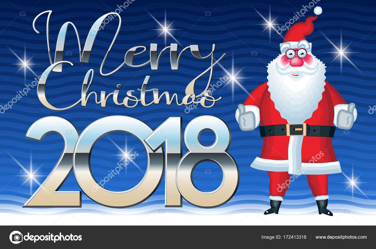 Delightful Vector Greeting Card For Merry Christmas And Happy New Year 2018 U2014 Vector  By Dgbomb