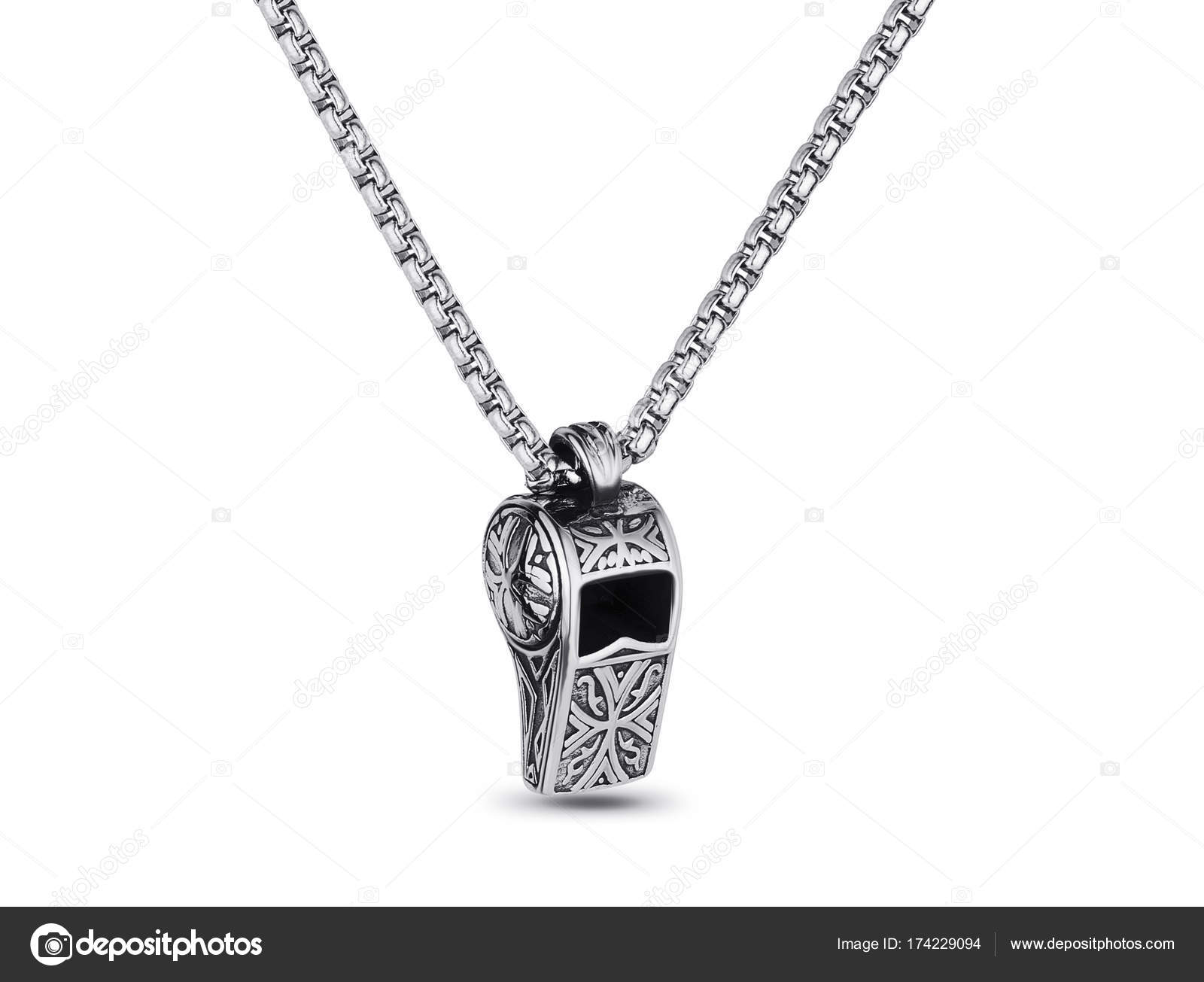 crystal cc necklace pendant whistle chanel