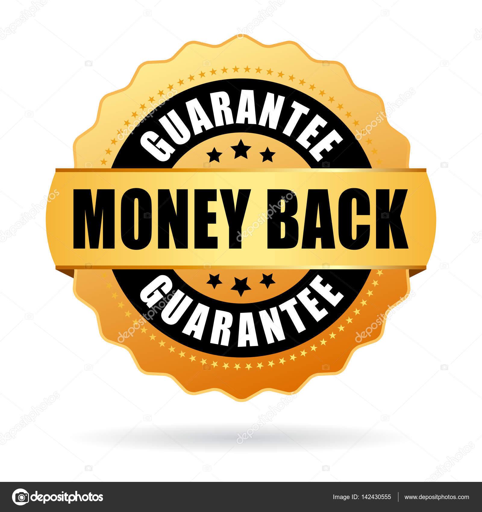 7fb279893f02 Деньги обратно Золотая печать векторные иллюстрации, изолированные на белом  фоне — Вектор от Arcady