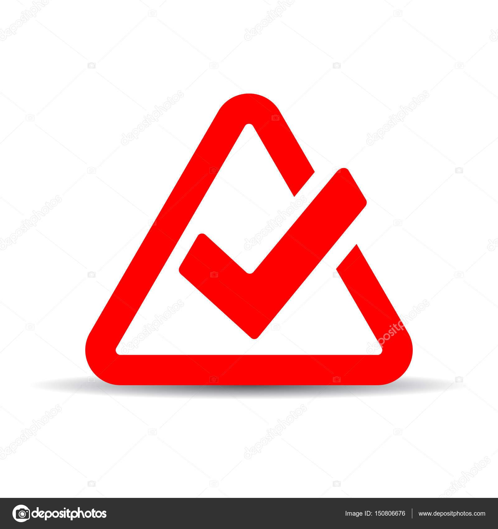 Emblema De Marca De Tick Rojo Vector De Stock Arcady 150806676