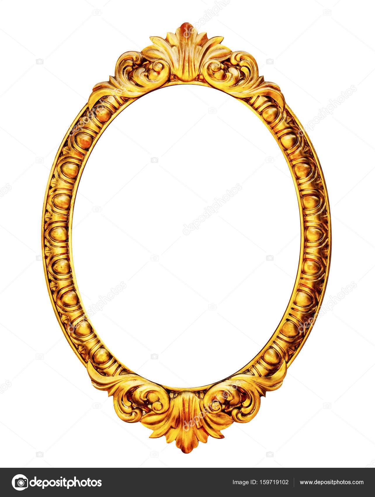 Gold aus Holz Spiegelrahmen — Stockfoto © Arcady #159719102