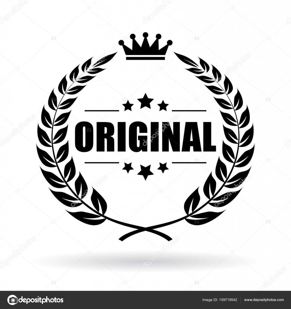 97def3780111 Original product laurel wreath icon — Stock Vector © Arcady #159719542