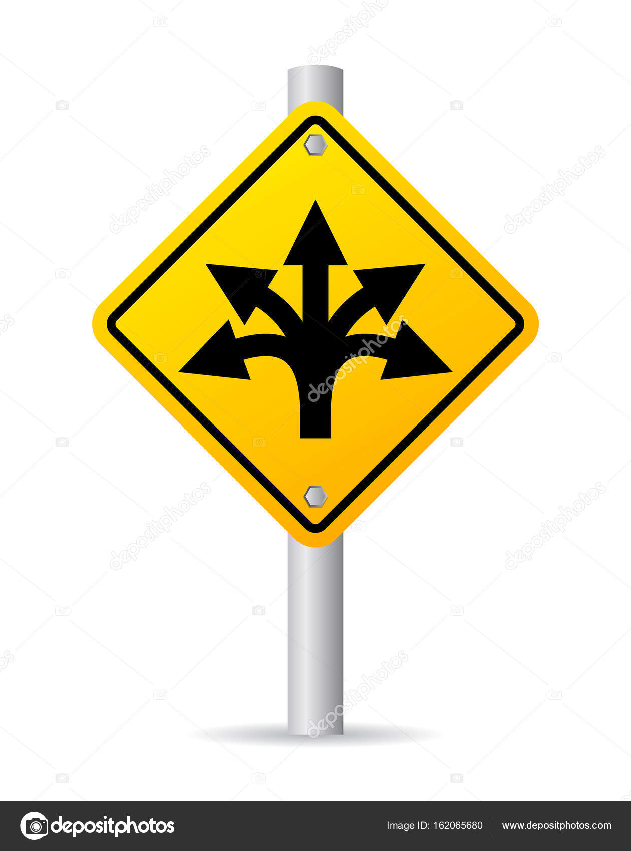 confusing fork direction road sign � stock vector 169 arcady