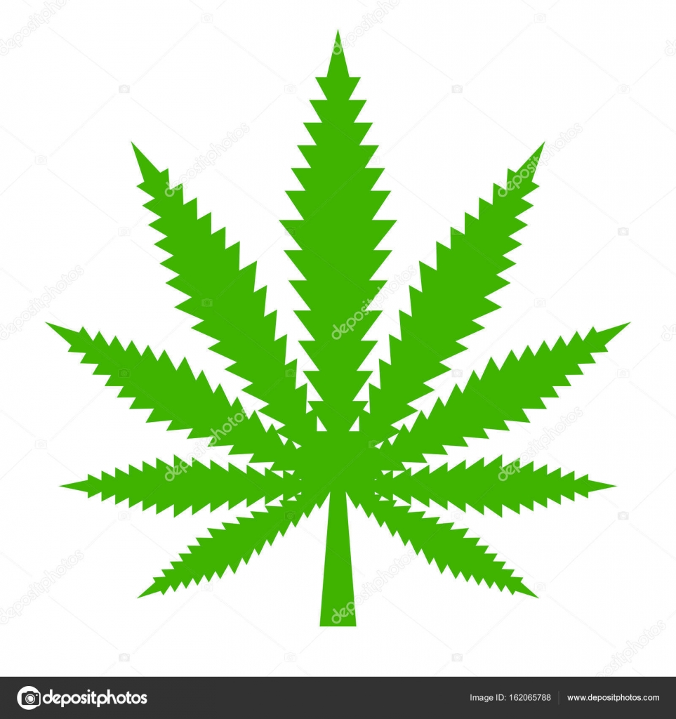 marijuana leaf vector icon stock vector arcady 162065788 rh depositphotos com marijuana leaf vector icon marijuana leaf vector image
