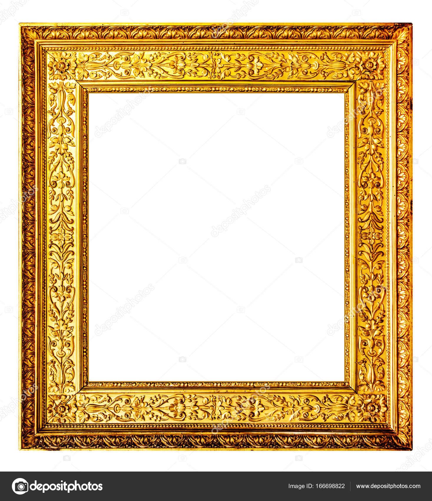 Old gold frame isolated on white background — Stock Photo © Arcady ...