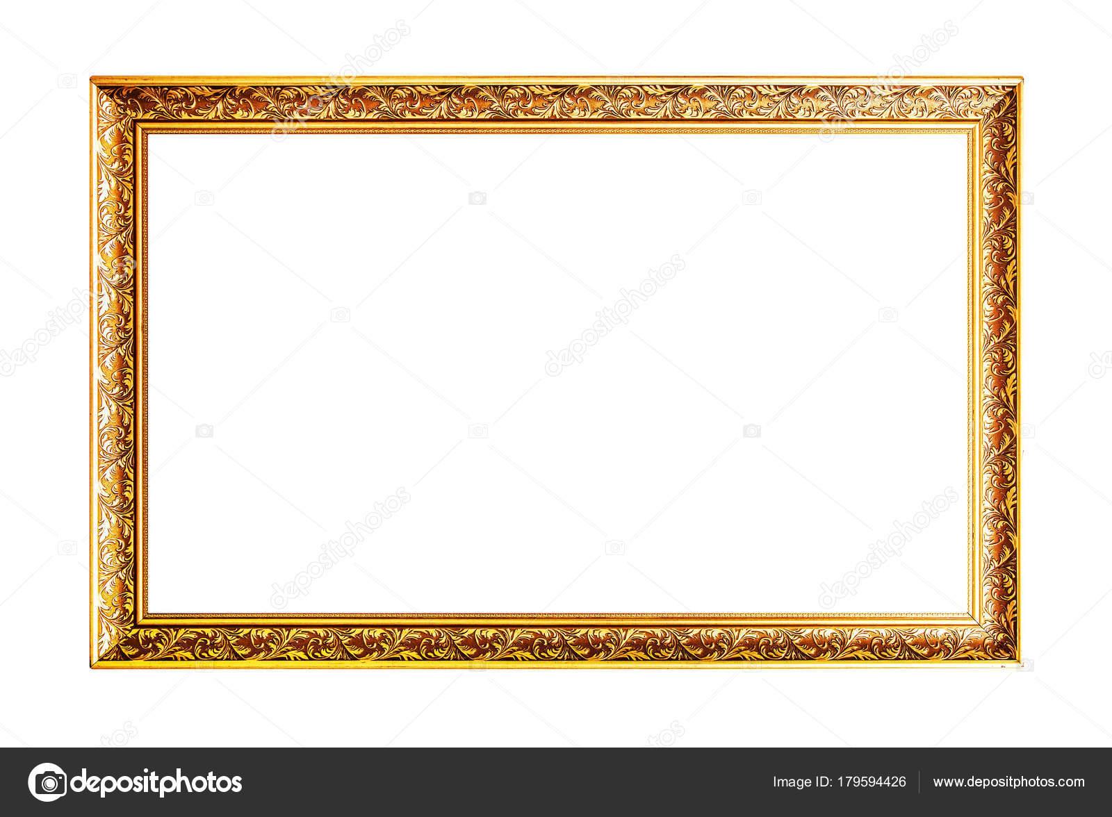Marco de madera horizontal ancho oro — Fotos de Stock © Arcady ...