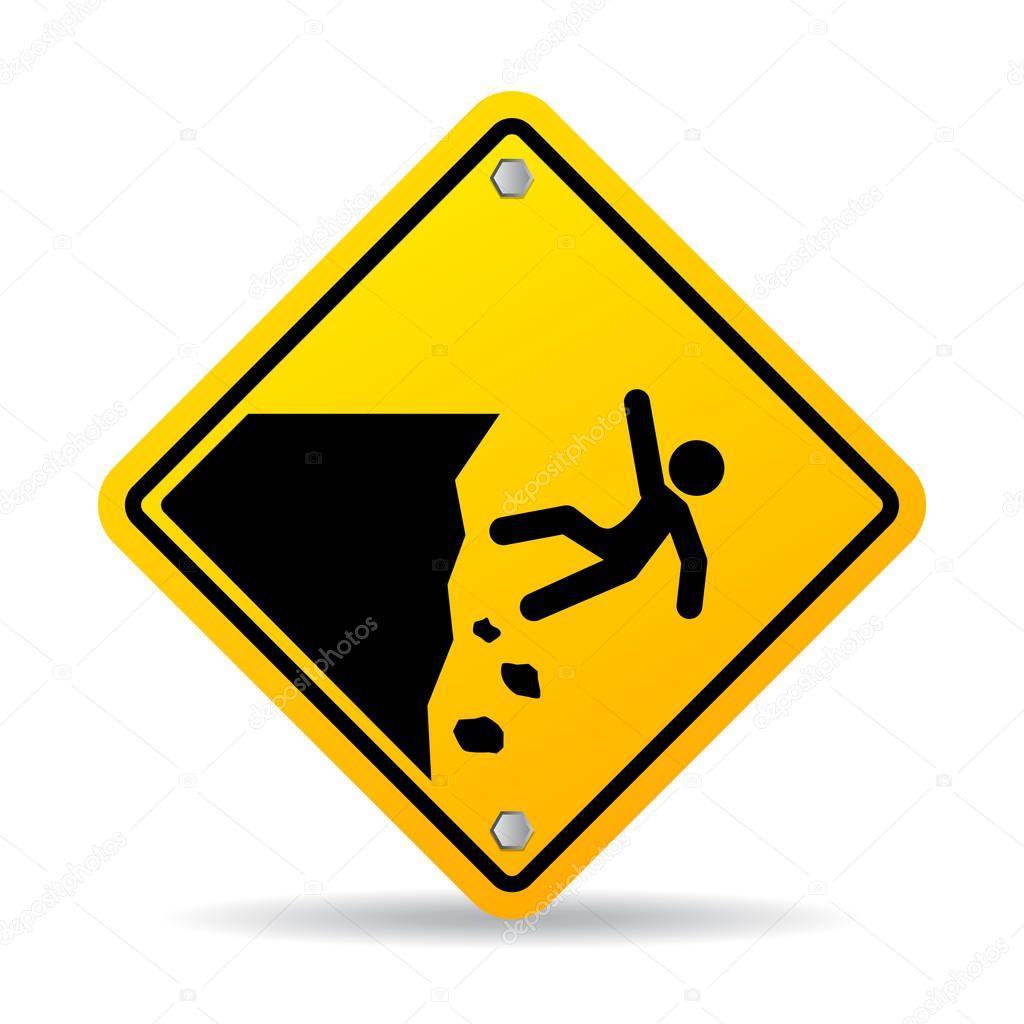 edge yellow caution sign - HD1024×1024