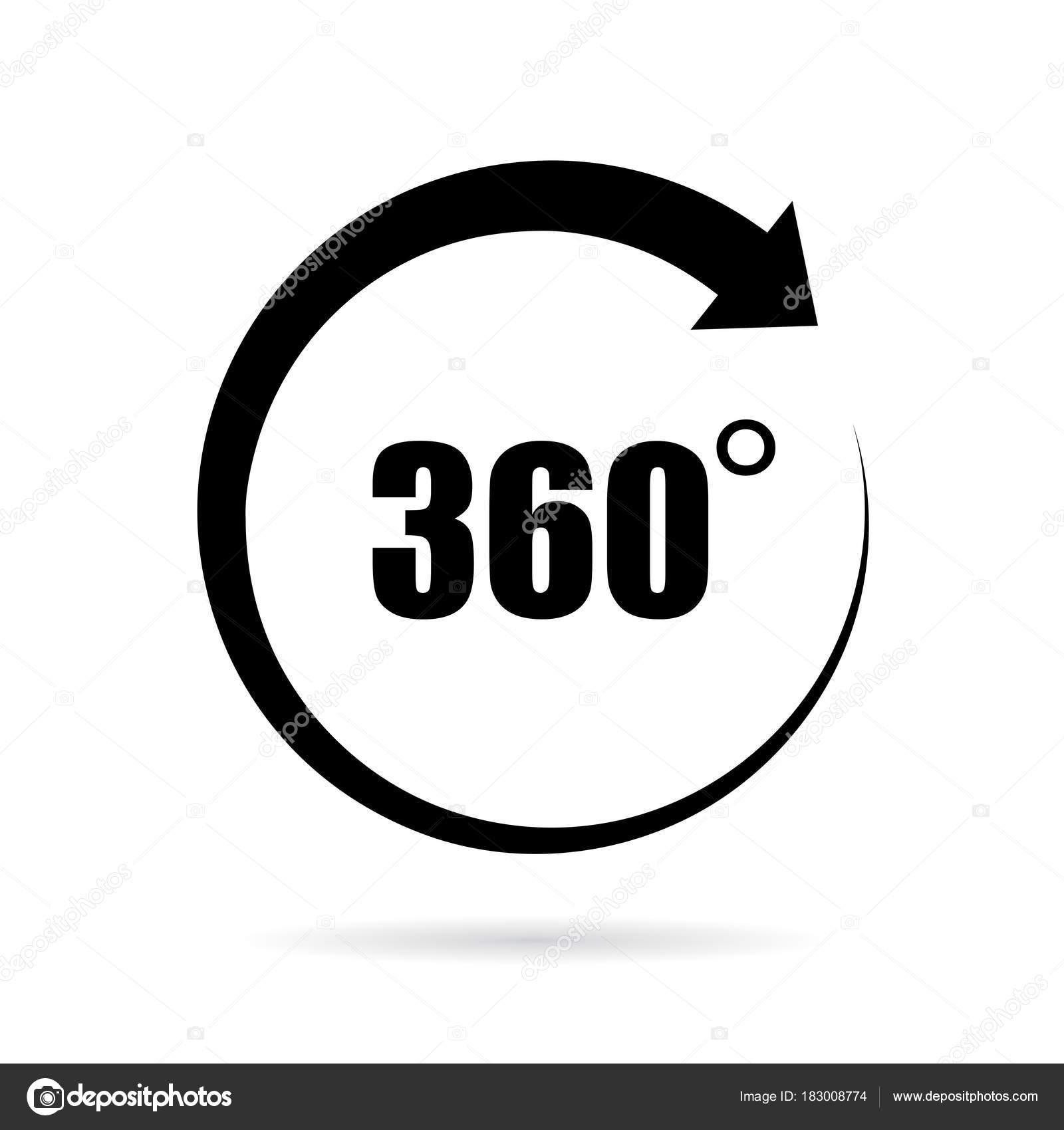360 градусов Векторный Icon