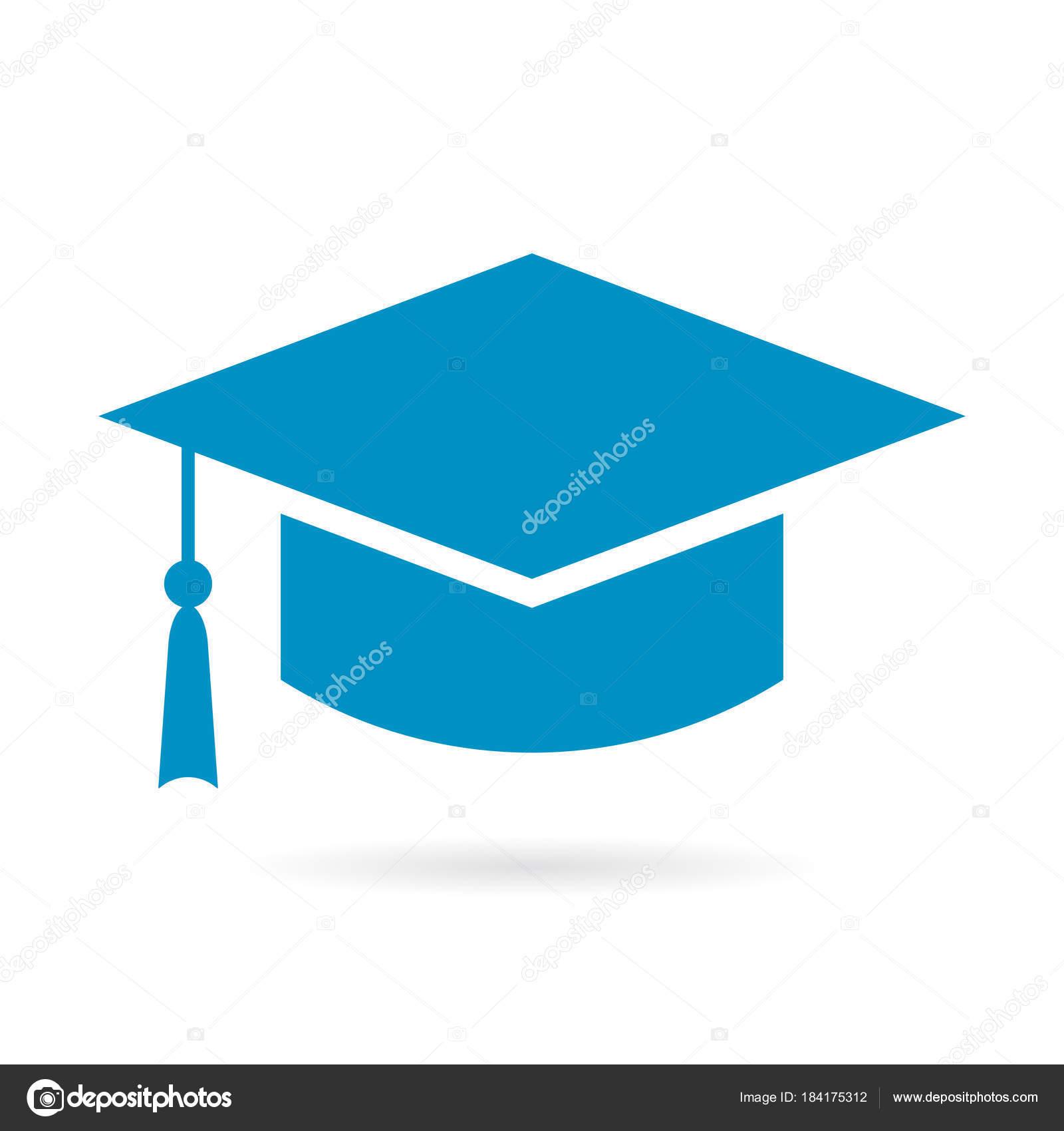 Akademiker Hut Symbol: Akademischen Abschluss Hut Vektor Icon