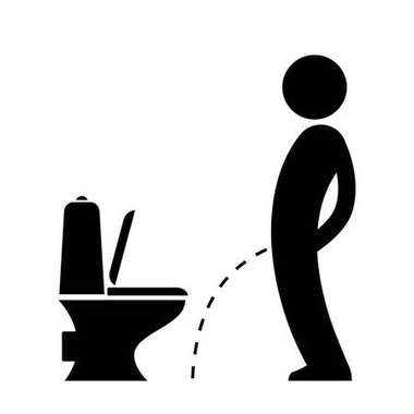 Man peeing on the floor pictogram